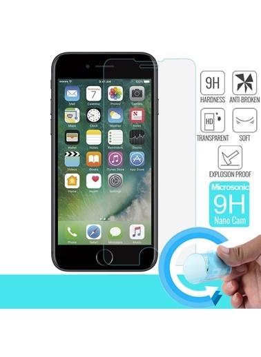 Microsonic iPhone 8 Ekran koruyucu Nano Cam (3'lü Paket) Renksiz